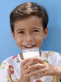 Small Boy Drinking a Glass of Milk Photographic Print