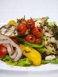 Mixed Salad with Grilled Vegetables Fotografie-Druck von Giannis Agelou