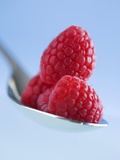 Raspberries on a Spoon Photographic Print by Franck Bichon
