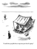 """I could show you folks how to tap into your hovel's equity."" - New Yorker Cartoon Premium Giclee Print by Frank Cotham"