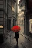 Red Rain Kunstdrucke von Stefano Corso