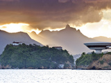 South America, Rio De Janeiro, Niteroi, Oscar Niemeyer's Contemporary Art Museum (MAC Niteroi) Photographic Print by Alex Robinson