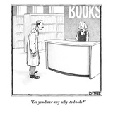 """Do you have any why-to books?"" - New Yorker Cartoon Premium Giclee Print by Matthew Diffee"