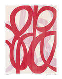 Red Lucky 8 Giclee Print by Maria Lobo