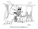 """Nobody unsubscribes from fluffykitty.com."" - New Yorker Cartoon Premium Giclee Print by Ken Krimstein"