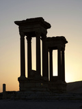 Tetrapylon (Monumental Entrance), Palmyra, Syria Photographic Print by Manuel Cohen
