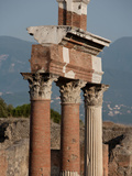 Colonnade Around the Forum, Pompeii, Italy Photographic Print by Manuel Cohen