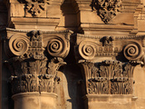 Ionic style capitals of the baroque main facade, cathedral of Tortosa, Tarragona, Spain Photographic Print by Manuel Cohen