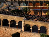 Rooftop view of a Modernist courtyard, Tortosa, Tarragona, Spain Photographic Print by Manuel Cohen