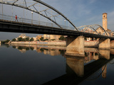 Puente del Estado and Parroquia del Rosario, Tortosa, Tarragona, Spain Photographic Print by Manuel Cohen