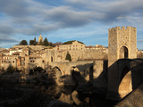 Romanesque bridge over the Fluvia river, Besalu, Girona, Spain Photographic Print by Manuel Cohen