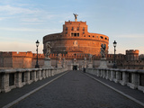 Ponte Sant'Angelo and Castel Sant'Angelo (Mausoleum of Hadrian), Rome, Italy Photographic Print by Manuel Cohen