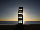 L'Estel Ferit, Rebecca Horn, Barceloneta Beach, Barcelona, Spain Photographic Print by Manuel Cohen