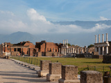 Forum, or civic centre of the city, Pompeii Photographic Print by Manuel Cohen