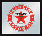 Texaco Mirror Sign Wall Sign
