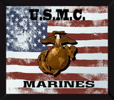 US Marine Corps Flag USMC Mirror Sign Wall Sign