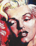 Hot! Marilyn Monroe Tin Sign Tin Sign by Stephen Fishwick