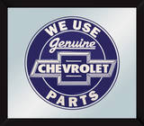 Genuine Chevy Parts Mirror Sign Wall Sign
