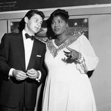Mahalia Jackson, Eddie Fisher - 1955 Fotoprint van Isaac Sutton