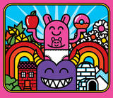 Pink Kangaroo Serigrafía por Mike Davis
