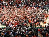Miami Hurricanes vs Duke Blue Devils - Fans Storm the Court: Florida, Jan. 23, 2013 Photographic Print