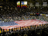 National Anthem at Hinkle Fieldhouse Fotografisk tryk