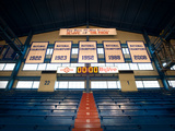 Kansas: National Championship Banners in Allen Field House Fotografisk tryk