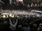 Butler vs Gonzaga - Fans Celebrate, NCAA Game: Indianapolis, Jan. 19, 2013 Fotografisk tryk