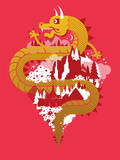 Year of the Dragon: 2012 Edition Serigraph by Mike Davis