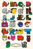 Alphabet Serigraph by Mike Davis