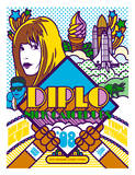 Diplo: New Years Eve 2008 Serigrafie von Mike Davis