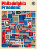 Philadelphia Freedom: 2nd Edition Serigraph by Aaron Draplin