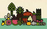 Fruit & Veggies (Mini) Serigrafía por Mike Davis