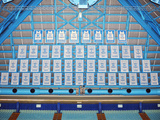 Carolina Basketball Retired and Honored Player Jerseys: University of North Carolina in Chapel Hill Photo