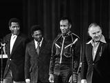 Raymond St. Jacques, Sidney Poitier B.B. King, Rod Steiger - 1973 Fotografisk tryk af G. Marshall Wilson