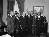 Roy Wilkins, Martin Luther King Jr., A. Phillp Randolph, Lester Granger, Dwight D. Eisenhower 1958 Photographic Print by Ellsworth Davis