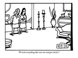 """We took everything that was nice and got rid of it."" - New Yorker Cartoon Premium Giclee Print by Bruce Eric Kaplan"