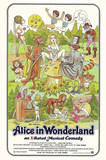 Alice in Wonderland Retro Adult Movie Poster Prints