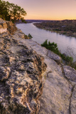 View from Mount Bonnell at Sunset Photographic Print by Vincent James