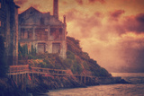 House at Island's Edge, Alcatraz Fotografie-Druck von Vincent James