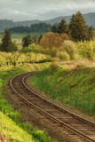Tracks through Hood River, Oregon Photographic Print by Vincent James