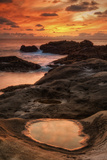 Fiery Sunset at Point Lobos, California Photographic Print by Vincent James