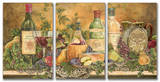 Grapes of Tuscany Triptych Art Wood Sign