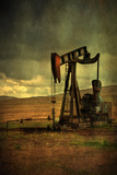 Classic Oil Rig, Central California Photographic Print by Vincent James