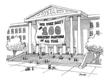 """One Week Only!The 100 Greatest Paintings Of All Time."" - New Yorker Cartoon Premium Giclee Print by Jack Ziegler"