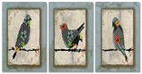 Song Bird Trio Triptych Art Wood Sign