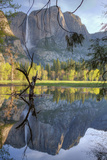 Yosemite Falls Reflection at Swinging Bridge Photographic Print by Vincent James