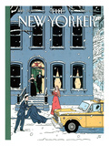 The New Yorker Cover - February 10, 1997 Giclée-tryk af Jean Claude Floc'h
