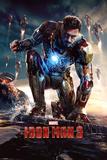 Iron Man 3, Marvel, le héros accroupi Affiche