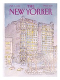 The New Yorker Cover - February 6, 1984 Giclée-Druck von Iris VanRynbach